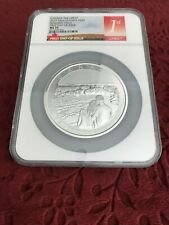 CANADA THE GREAT 2017 10oz .9999 FINE SILVER $50 FIRST DAY ISSUE MS70 NGC