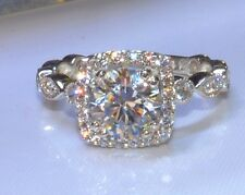 2.50 CT ROUND CUT SOLITAIRE ADORNED ENGAGEMENT RING SOLID 14KT WHITE GOLD
