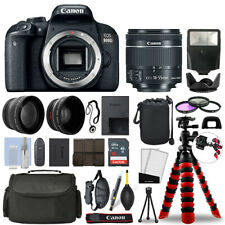 Canon 800D / T7i Slr Camera with 18-55mm Stm+ 16Gb 3 Lens Ultimate Accessory Kit