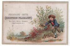 Providence, Rhode Island, FERDINAND SMITH, PHARMACIST TC, Boy Chasing Rabbit