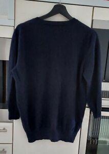 Pullover von Madeleine Gr. M 100% weiches Kaschmir  Blau