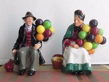 "Vintage Royal Doulton 'The Balloon Man"" & ""The Old Lady Balloon Seller"" Pair"