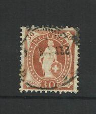 Switzerland SC# 121 Used / Granite Paper/Perf 11.5x12/ Tiny Edge Crease - S6709