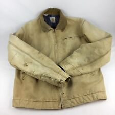 vtg Carhartt Distressed Chore Work Jacket Size 42T Union Made USA blanket lined