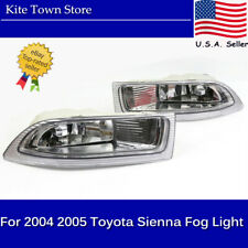 Pair Left+Right Front Fog Driving Lamp Light Clear Lens For 04 05 Toyota SIENNA