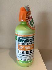 Therabreath Tingling Mint Oral Rinse Liquid Dry Mouth Bad Breath Mouthwash 16 Oz