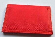 NEW Red material mens wallet 13x9cm boys accessories coin card fathers day