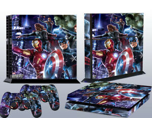 PS4 Game Console Skin Sticker Avengers Vinyl Decal Skin Sticker