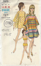 1960s Vintage Vogue-schnittmuster B34 Badeanzug & Cover-up (1596)