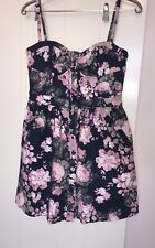 Forever New Denim Floral Dress Size 12