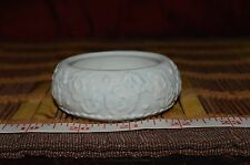 """1985 Geo Z. Lefton China Hand-painted Floral Etched Bowl / Candle Holder 2 7/8"""""""
