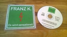 CD Rock Franz K - Es wird sensationell (3 Song) Promo STEPS