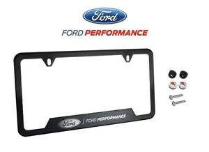 Mustang F150 Raptor Ford Performance License Plate Frame - Black Stainless Steel