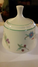 AVA by Oneida Sugar Bowl Floral Pattern~Green.Purple Flowers