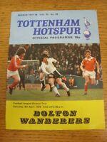 08/04/1978 Tottenham Hotspur v Bolton Wanderers [Division 2 Season] (folded, sta