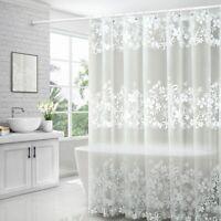 PEVA Shower Curtain Waterproof &Mildew Resistant Semi-Transparent  w/ 12 Hook up