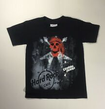 Hard Rock Cafe T Shirt Cayman Islands Red Skull And Guitars X Small 2/4 Black