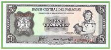 PARAGUAY - 5 GUARANIES - 1952(1963) - P-195b - UNC - REAL FOTO