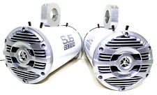 Kenwood 600 Watt Marine Boat Wakeboard Tower Speakers White Glitter SJS Dezign