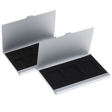 3in1 Aluminum Alloy SIM Card Holder Memory Card Storage Case Holder Protec_yk
