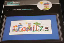 Family Sign fence beach BBQ Artiste Counted Cross Stitch Kit NIP