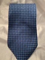 Ermenegildo Zegna 100% Silk Neck Tie Blue Floral Made in Italy