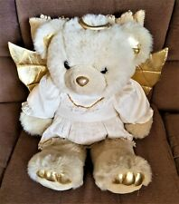 "Angel Teddy Bear Golden Bear Co 24"" JC Penney Holiday Collection Halo, wings"
