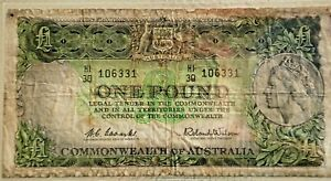 1961 ONE POUND -COOMBS & WILSON--COMMONWEALTH of AUSTRALIA--NO RESERVE--BID