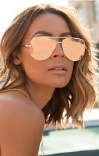 AVIATOR   UV400**ROSE-GOLD-DESIGNER -MIRRORED-WOMEN-SUNGLASSES