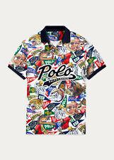 Polo Ralph Lauren Collegiate Varsity Sports Mascots Pennant Mesh Shirt New