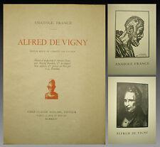 Anatole FRANCE - AFRED de VIGNY - Bois de PERRICHON - 1923 - Tirage Limité