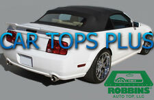 """2005-14 Mustang Convertible Top & Heated Glass """"Robbins"""" Stayfast Cloth Black"""