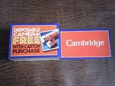 Cambridge Cigarettes Disposable Camera