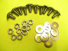 MOTORCYCLE SCOOTER FAIRING BOLT bolts screws x 10 Bright Plated 13 x 6mm 806213