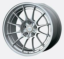 18 ENKEI NT03+M SILVER RIMS 18x9.5 +27 5x114.3 (4 NEW WHEELS)
