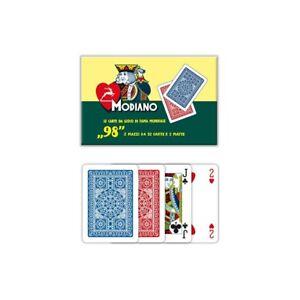 Set 2 mazzi Carte da Gioco n°98 Poker, Bridge e Ramino Modiano