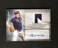 2020 Topps BRENDAN MCKAY MAJOR LEAGUE MATERIAL PATCH AUTO RC PLATINUM 1/1 MLMABM