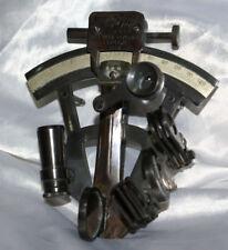 Antico sestante nautico Kelvin&Hughes 1917 nero arredo ufficio guardia costiera