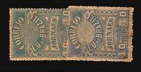 Brazil SC# P22 & P23 Mint No Gum / Light Toning - S9476