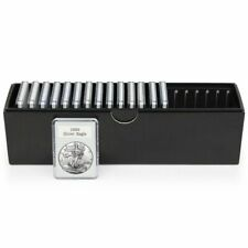 BCW Slotted Coin Holder Slab Storage Box Black Display Case Holds 20 Capsule