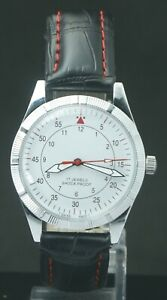 "Refurbished White Dial FHF ST-96 ""Hand Winding"" Men's Excellent Watch Swiss Mvmt"