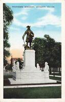 Postcard Oglethorpe Monument Savannah Georgia