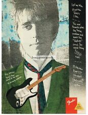 1987 FENDER Stratocaster Electric guitar ERIC JOHNSON art Vintage Print Ad