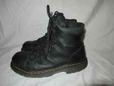 Doc Martens Industrial Soft Toe Boots Nubuck Black Leather Men's Size 11