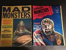 MONSTER MAG.LOT 10 DIFF) INC MAD MONSTERS,FANTASTIC MONSTERS,HORROR MONSTERS,ETC