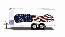 America Flag Boat Car Truck Graphics RV Kart  Stickers Racing Decals 2-10FT Wrap