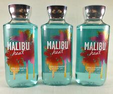3 Malibu Heat Shower Gel Bath & Body Works 10 Oz