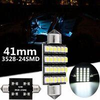 41mm 3528 SMD 24 LED Ampoule Veilleuse Plafonnier Habitacle Navette Blanc 6000K