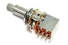Alpha Push Pull 500K Long Shaft DPDT Coarse Spline Split Shaft Pot Potentiometer