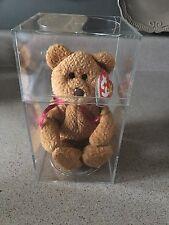 NEW Plastic Case TY Beanie Original Baby CURLY Bear RARE Multiple Errors 1996